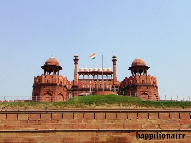The Iconic Red Fort Picture with Indian Flag